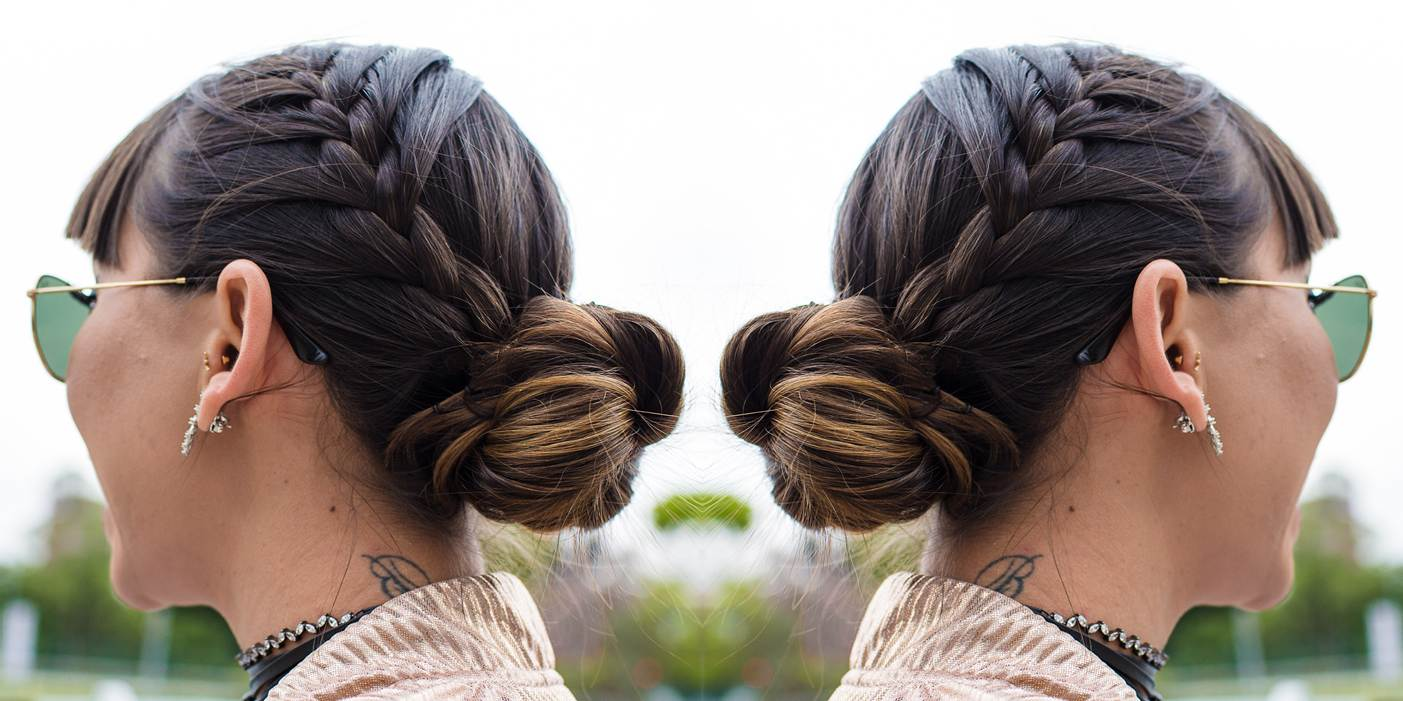 A opposite turn to a normal braided bangs hairstyle