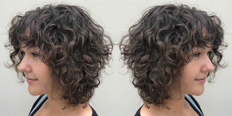 Layered Shoulder Length Tight Curls