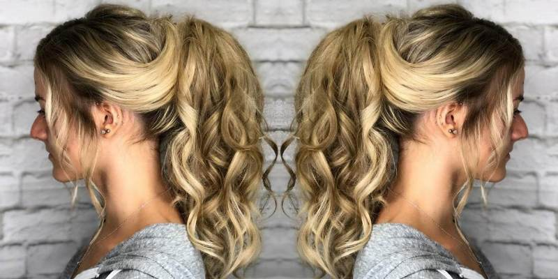 Magnificent Long Blonde Curly Hairstyle